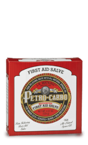 watkins petro carbo cow teat red tin salve