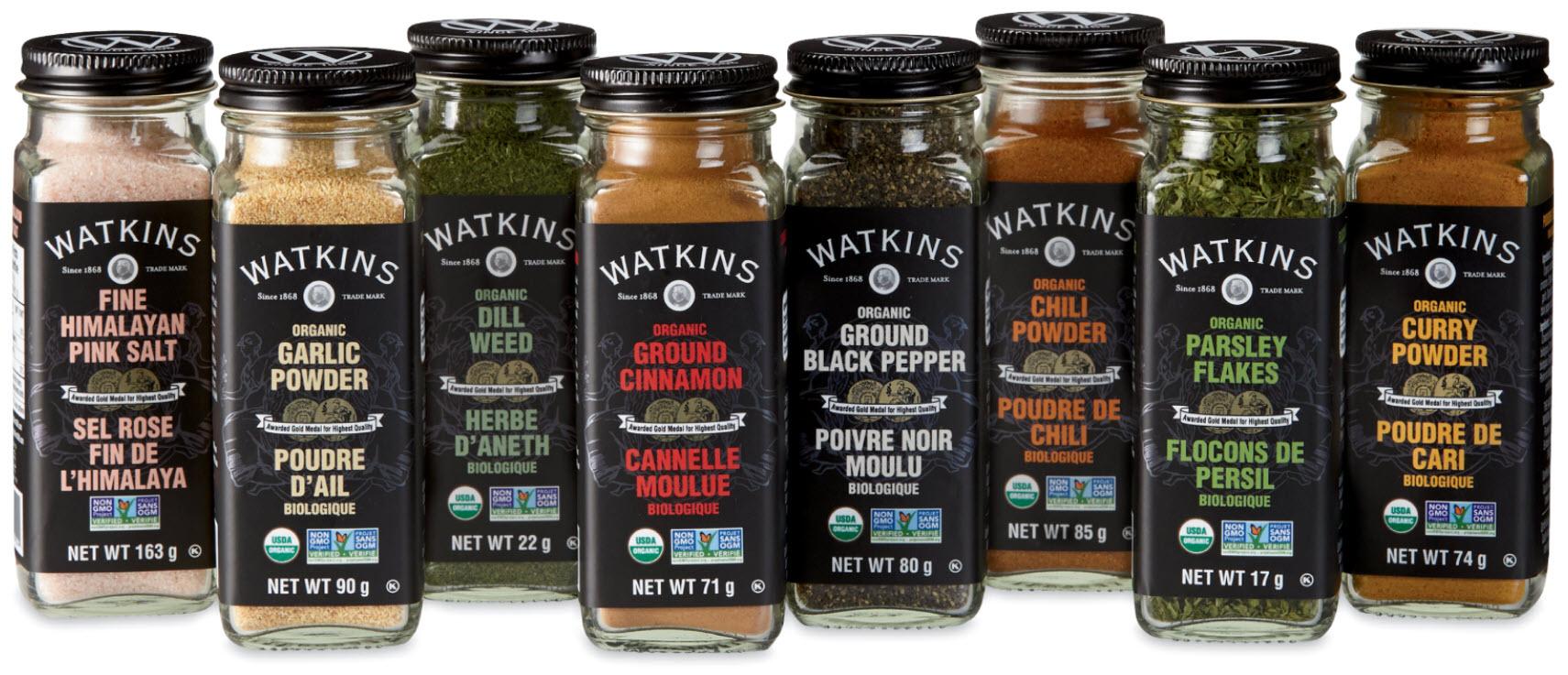 watkins organic spices