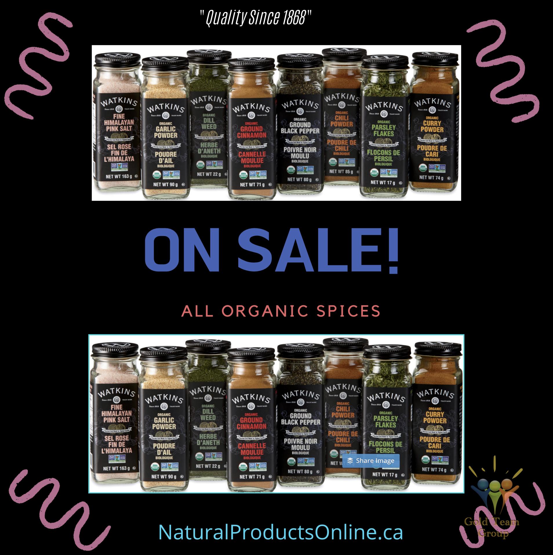 watkins organic spices on sale