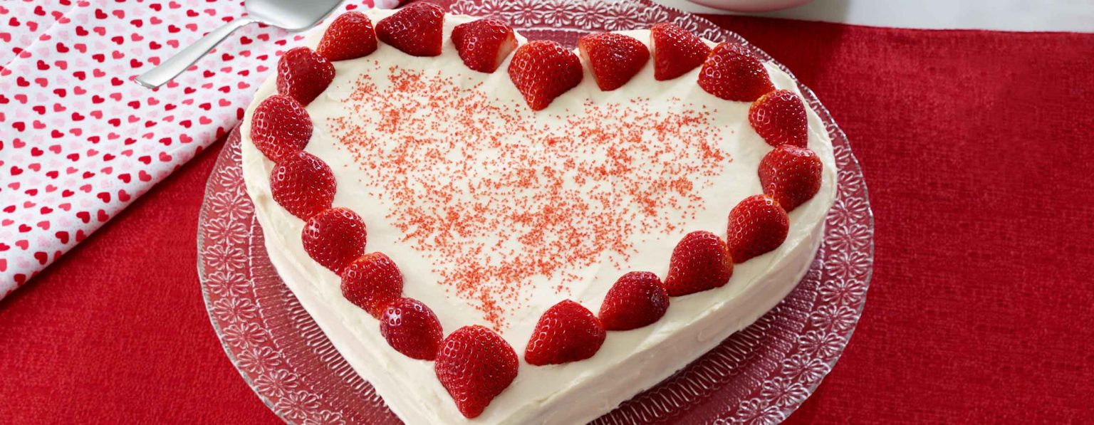 strawberries and cream cake valentines day cake recipe