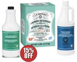 Watkins traditional house cleaning products
