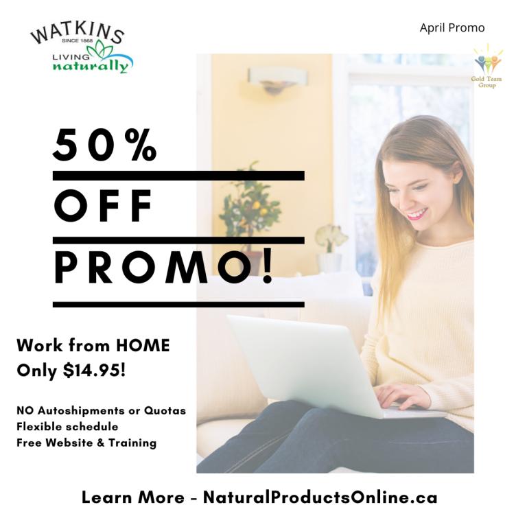 watkins home business membership on sale April 2020