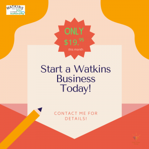 Start Watkins business only $19.95
