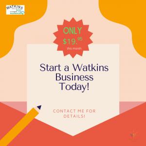 Start Watkins business only $19.95