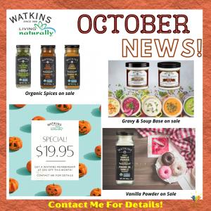 Watkins products october specials