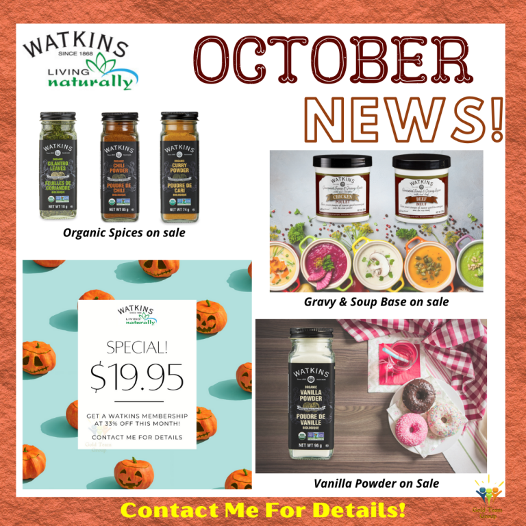 Watkins October product and business specials