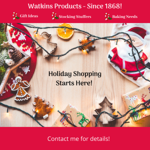 holiday shopping with watkins