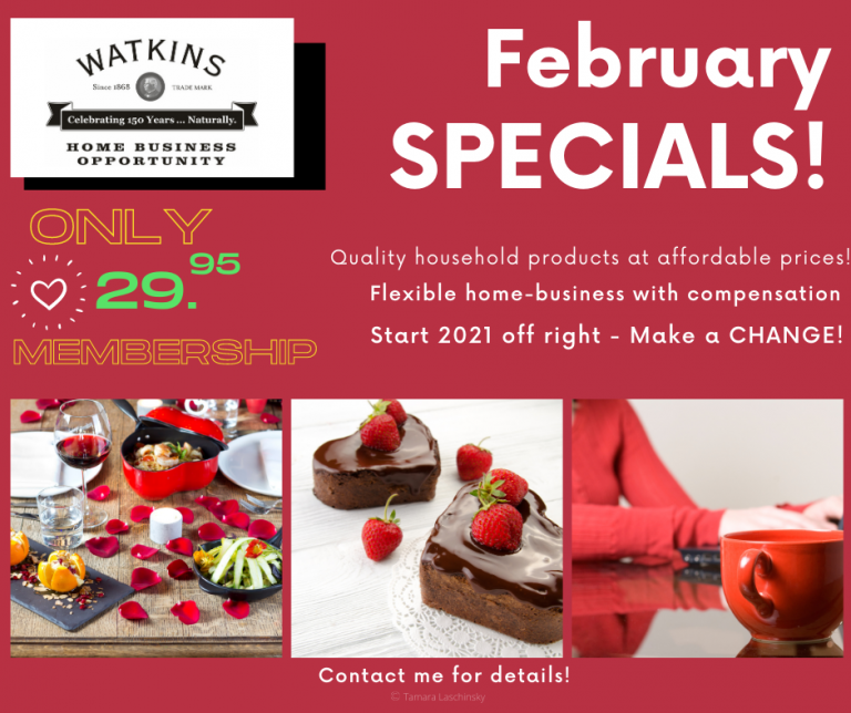 Watkins Products February 2021 Specials Spices Extracts Canada USA